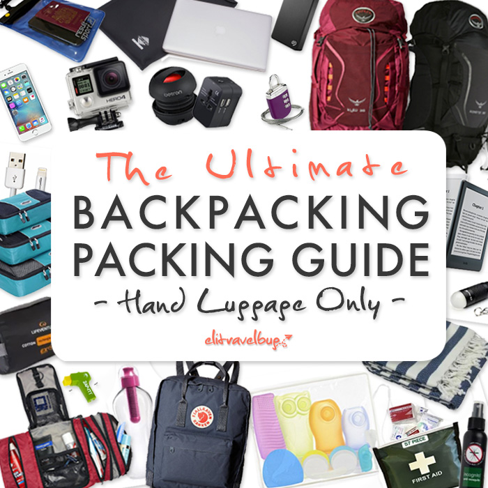 Backpacking Packing Guide – Hand Luggage Only